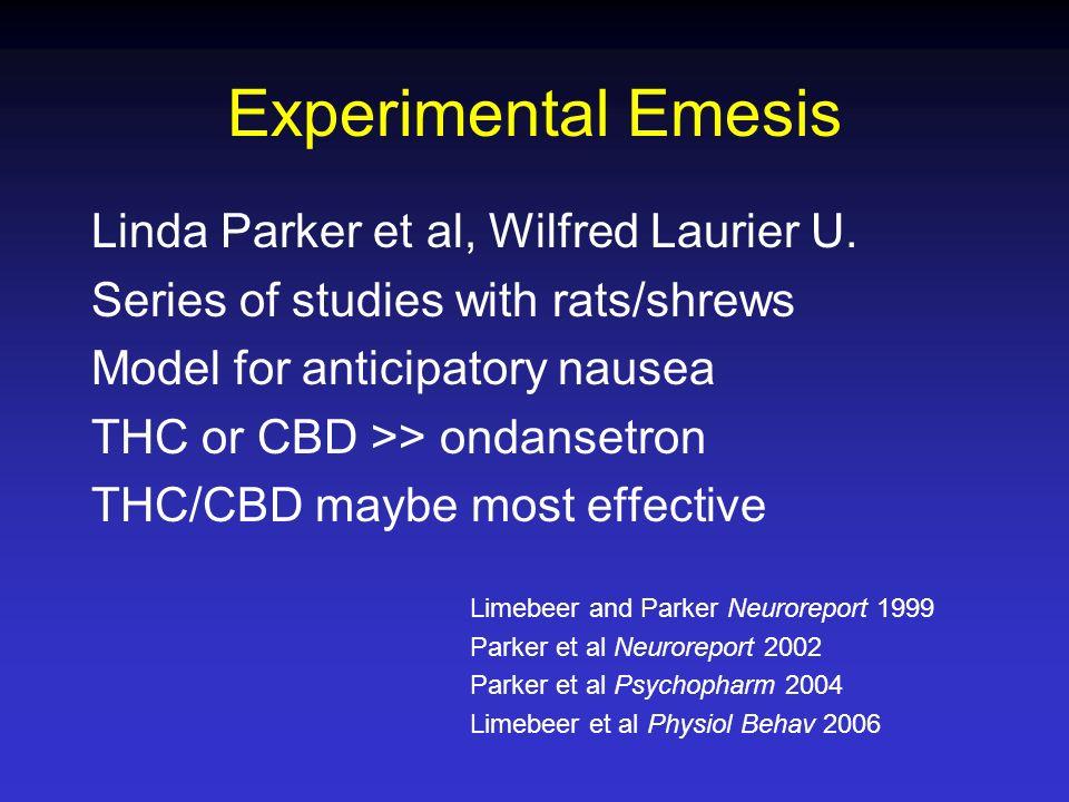 Experimental Emesis Linda Parker et al, Wilfred Laurier U.