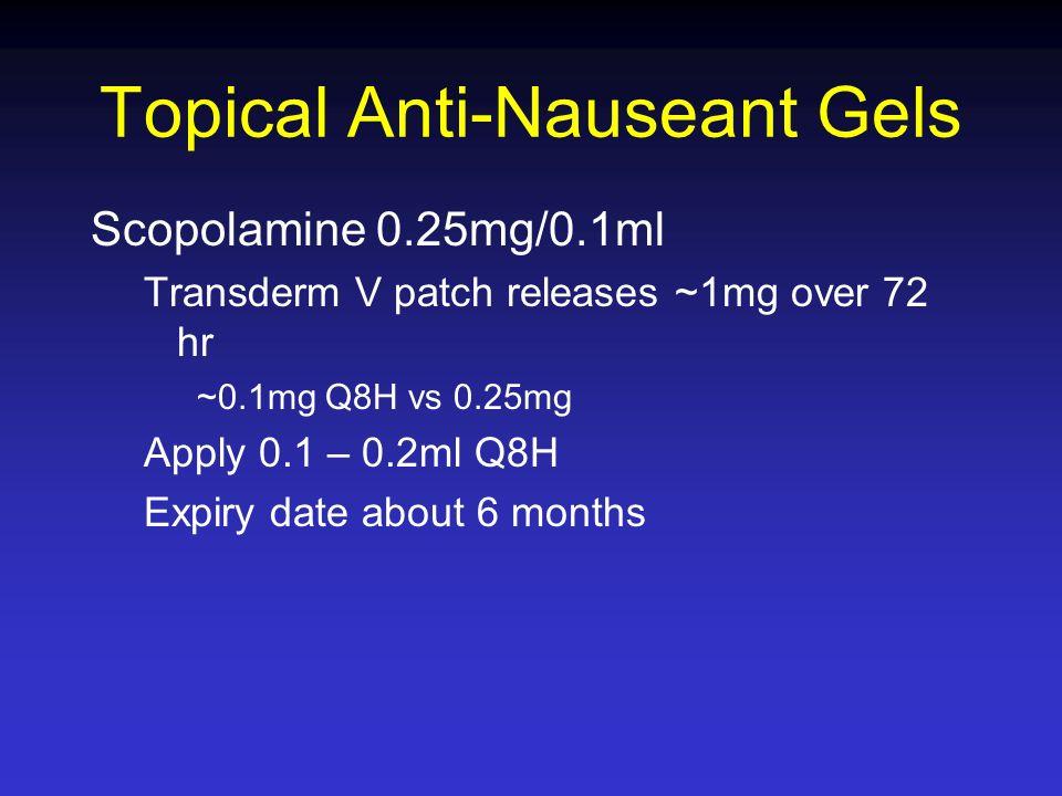 Topical Anti-Nauseant Gels