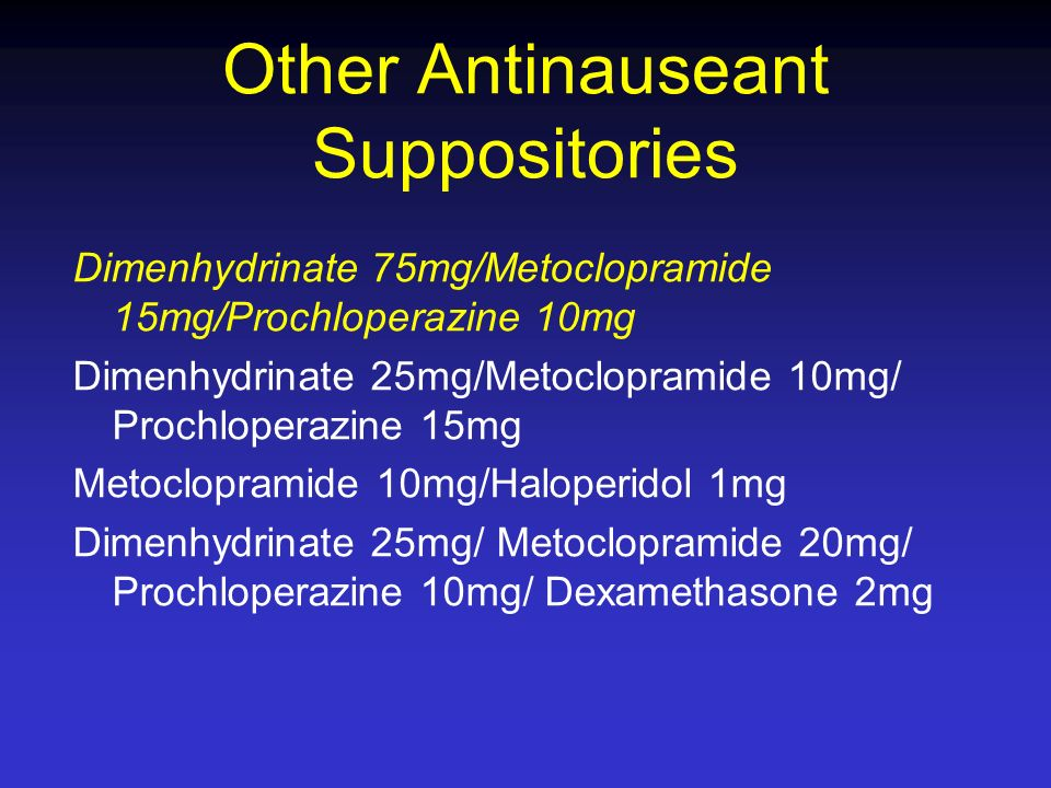 Other Antinauseant Suppositories