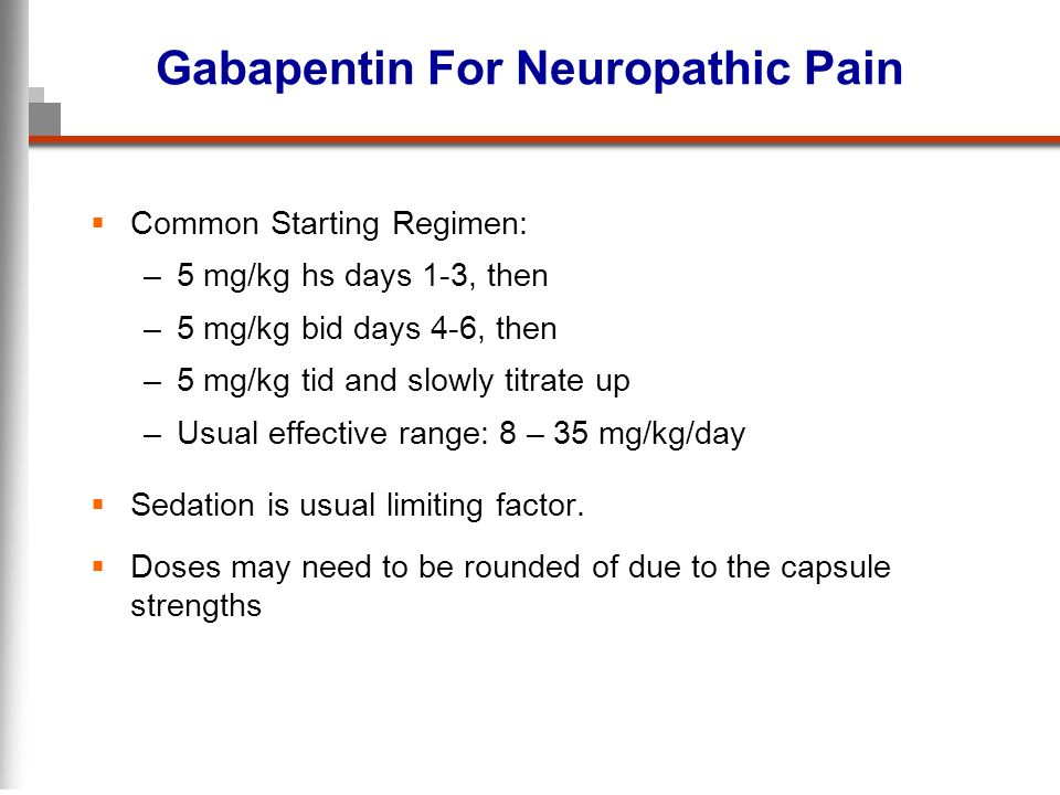 Gabapentin For Neuropathic Pain