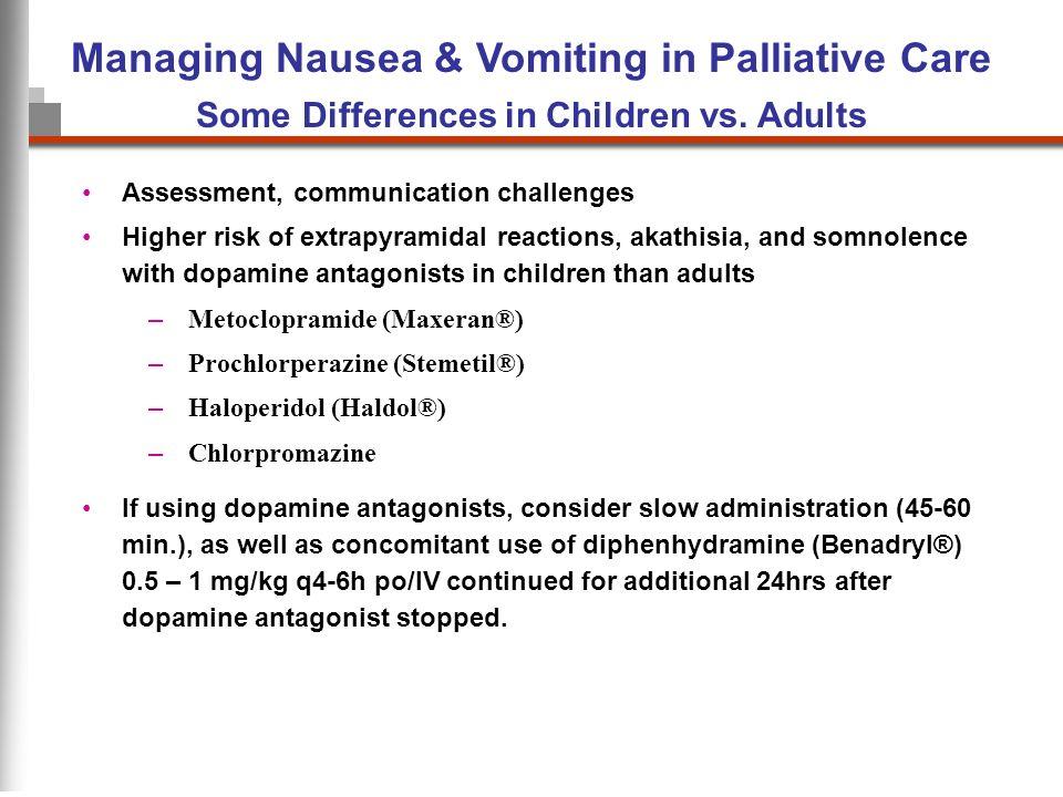 Managing Nausea & Vomiting in Palliative Care