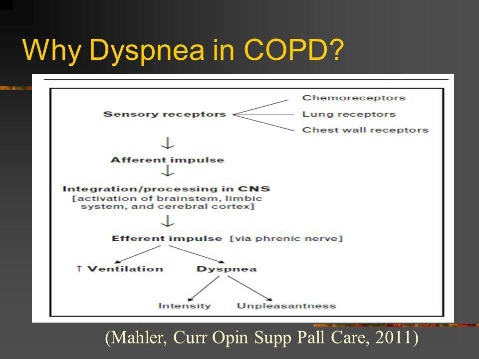 Why Dyspnea in COPD (Mahler, Curr Opin Supp Pall Care, 2011)