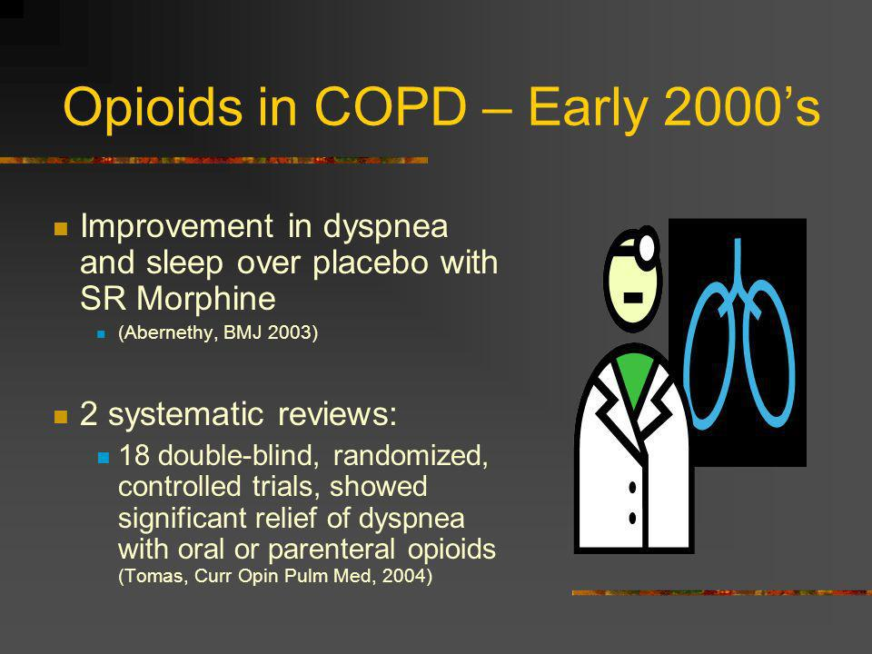 Opioids in COPD – Early 2000's