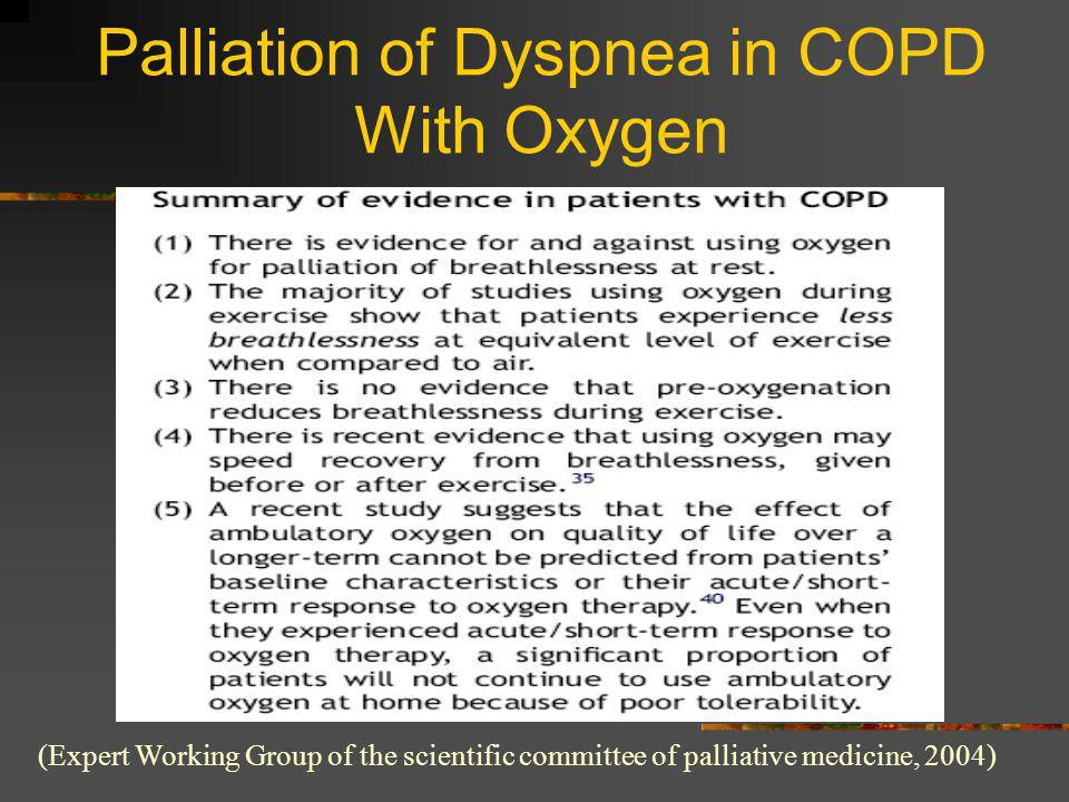 Palliation of Dyspnea in COPD With Oxygen
