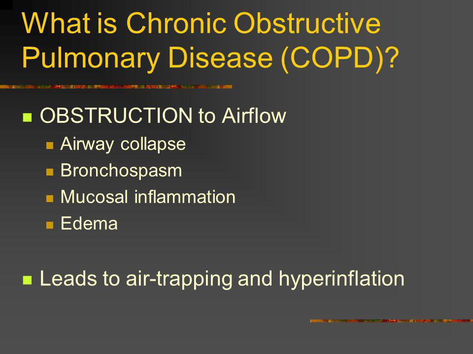 What is Chronic Obstructive Pulmonary Disease (COPD)