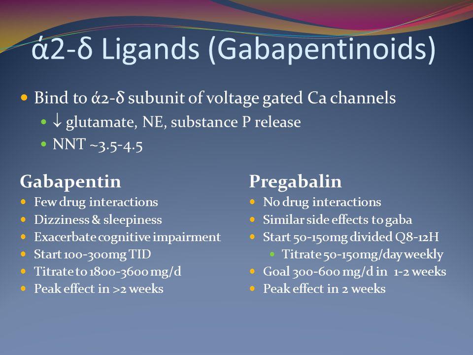ά2-δ Ligands (Gabapentinoids)