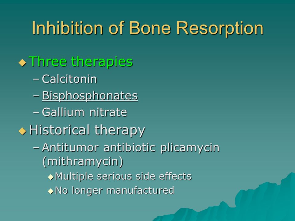 Inhibition of Bone Resorption