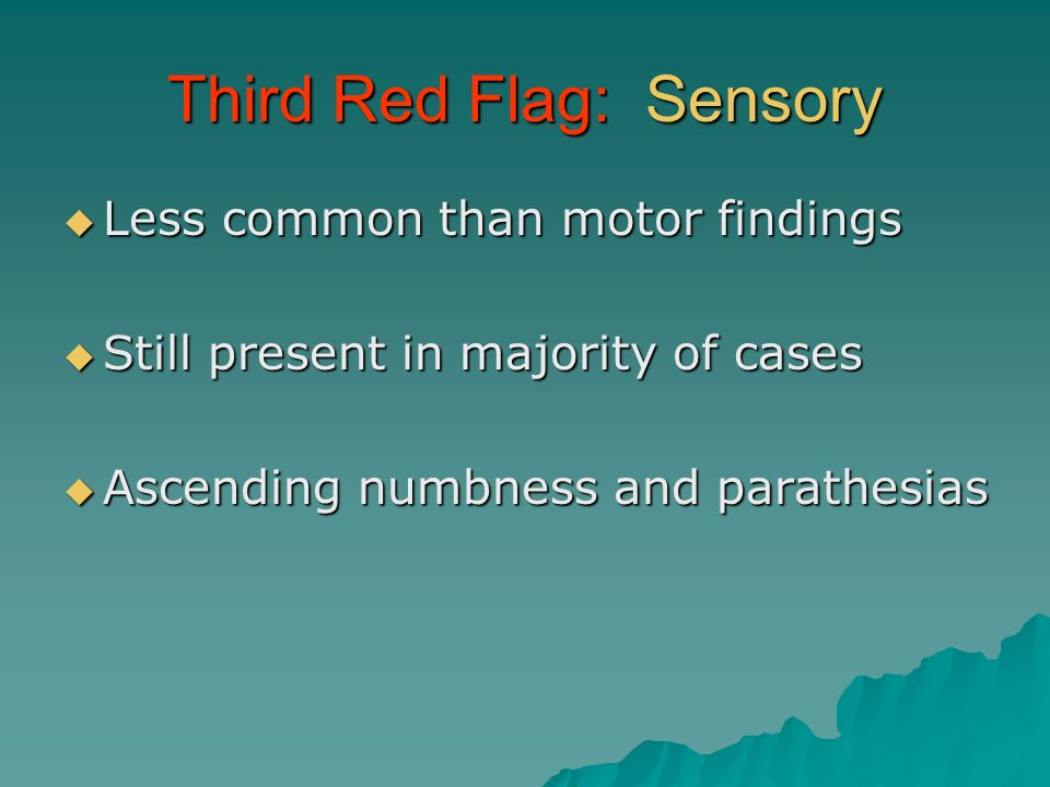 Third Red Flag: Sensory
