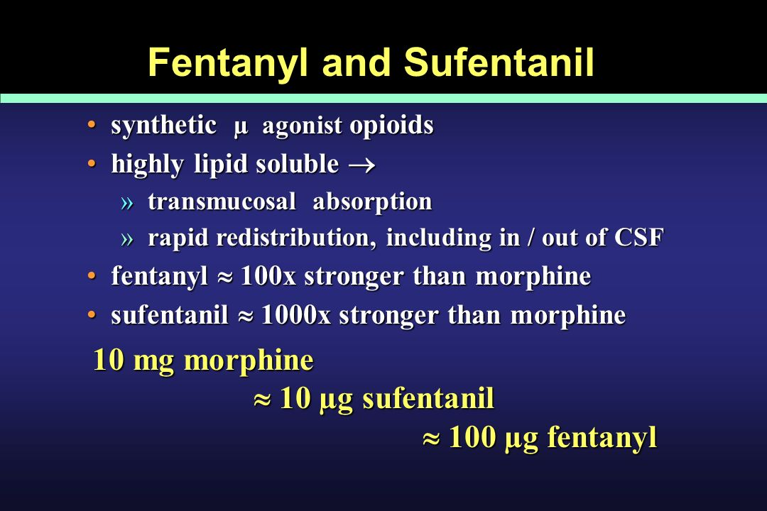 Fentanyl and Sufentanil