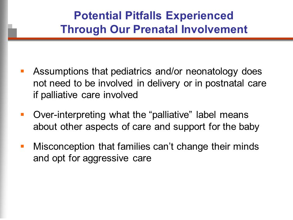 Potential Pitfalls Experienced Through Our Prenatal Involvement