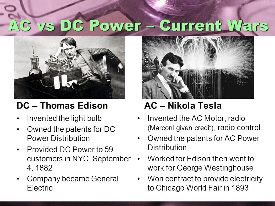 AC vs DC Power – Current Wars