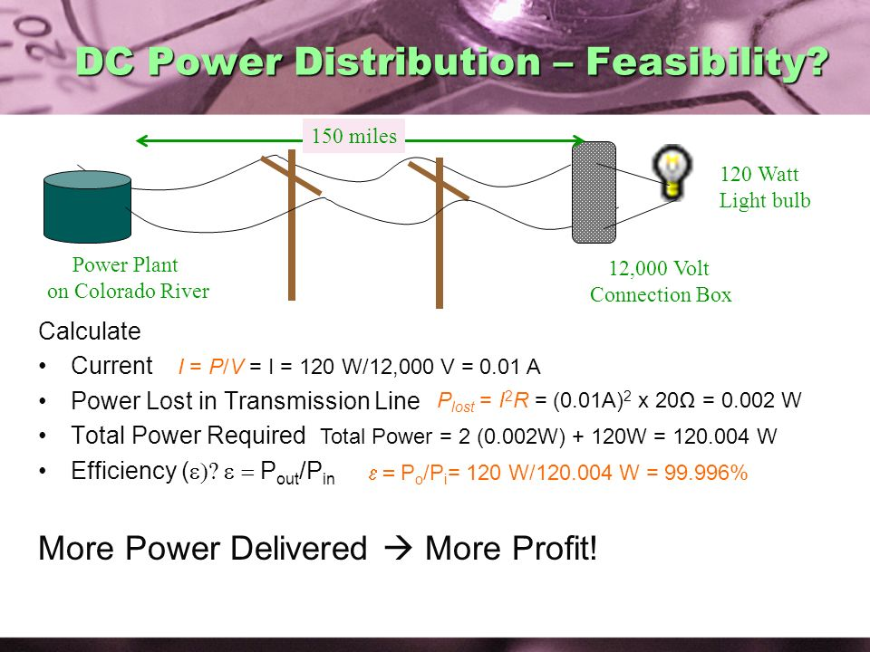 DC Power Distribution – Feasibility
