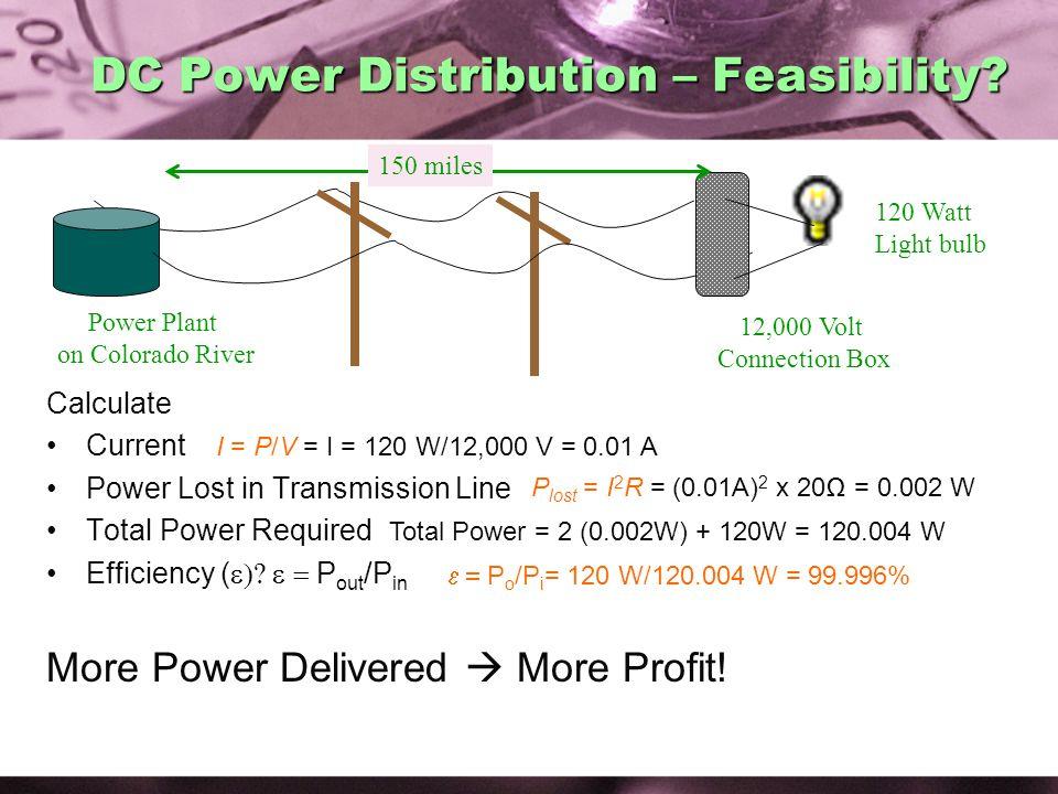 DC Power Distribution – Feasibility