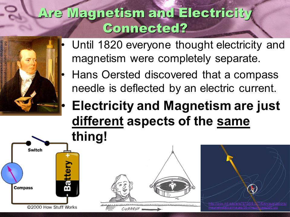 Are Magnetism and Electricity Connected