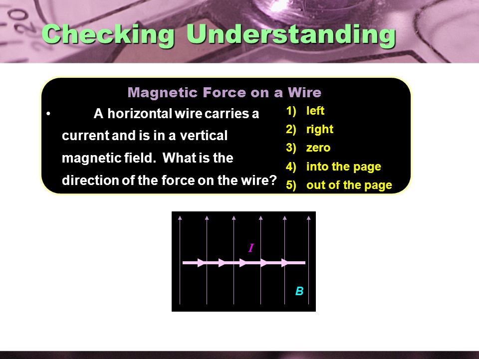 Magnetic Force on a Wire