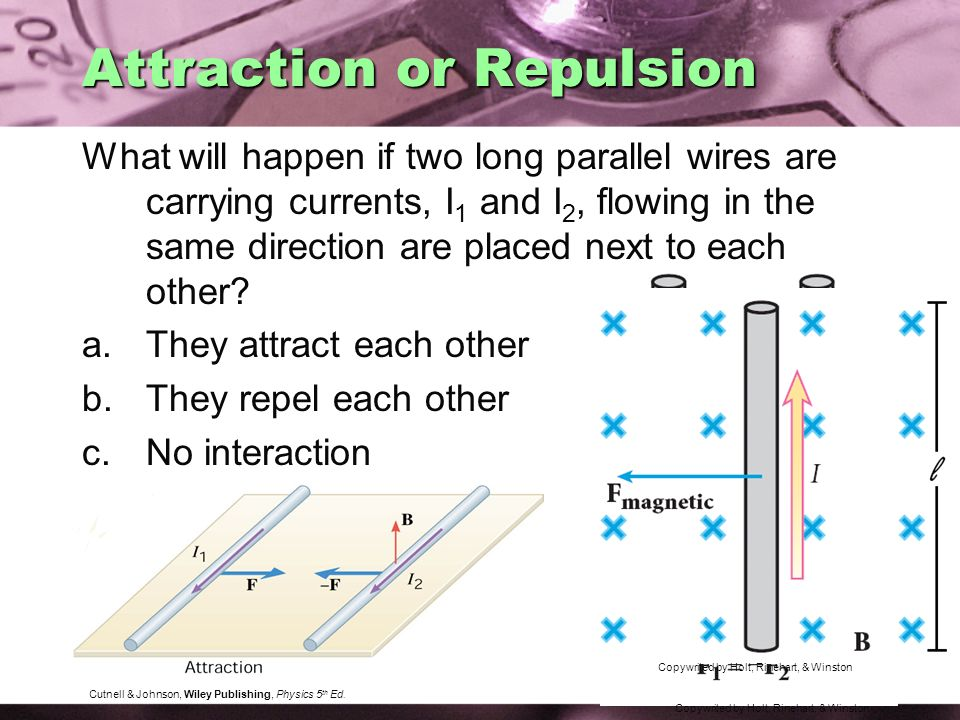 Attraction or Repulsion