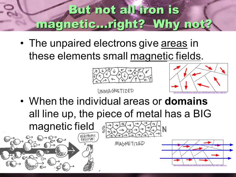 But not all iron is magnetic…right Why not