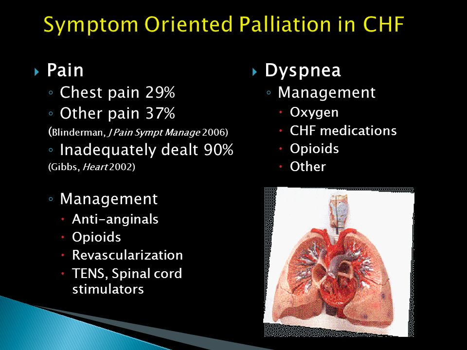 Symptom Oriented Palliation in CHF