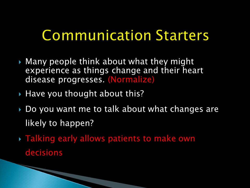 Communication Starters