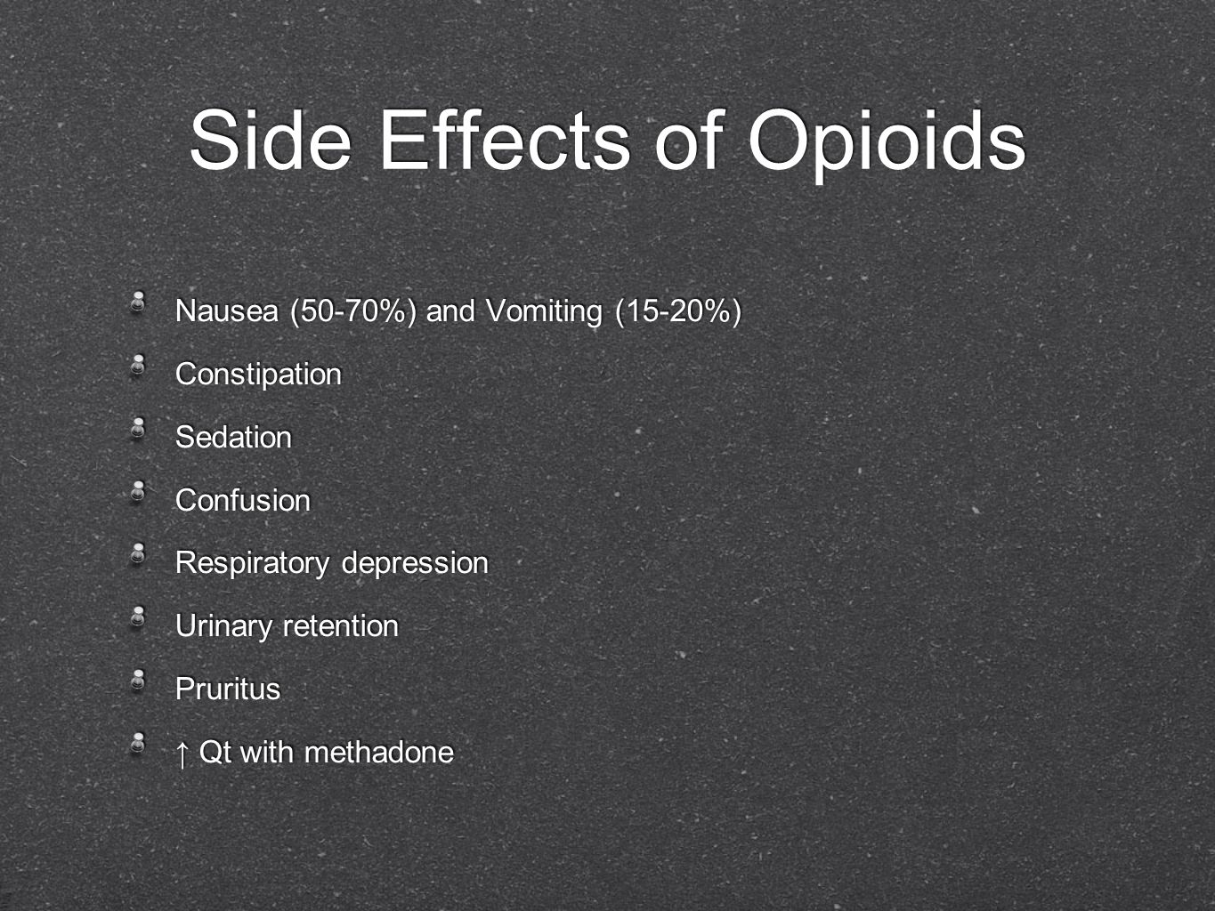 Side Effects of Opioids