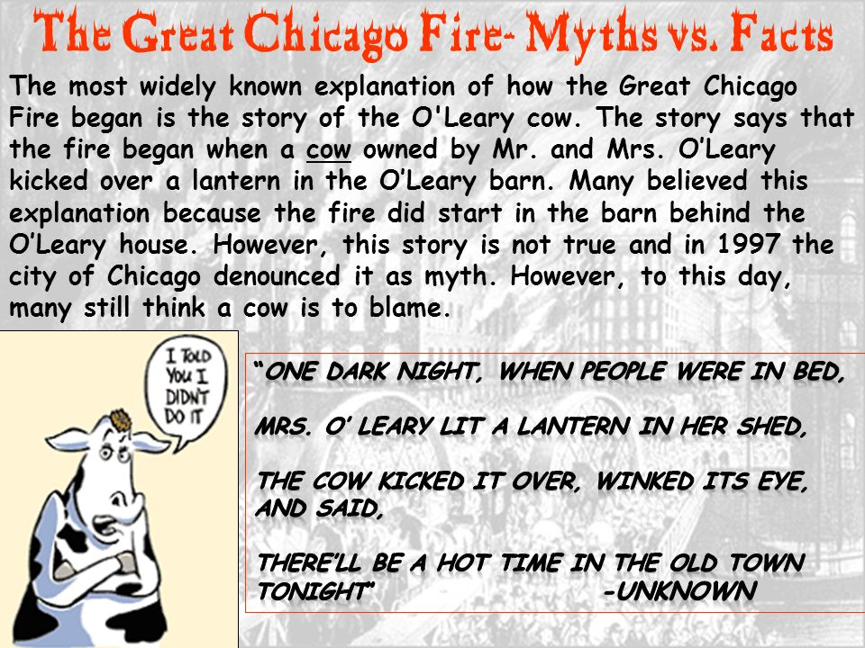 The great chicago fire of ppt download for Facts about house fires