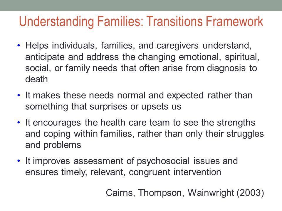 Understanding Families: Transitions Framework