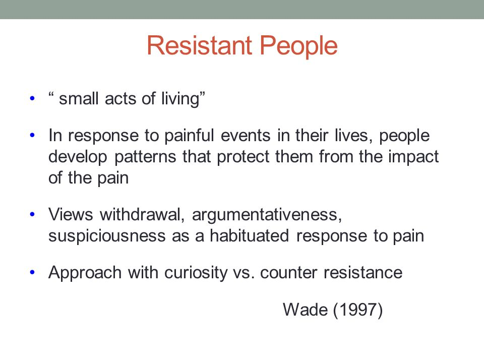 Resistant People small acts of living
