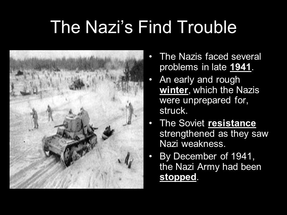 The Nazi's Find Trouble