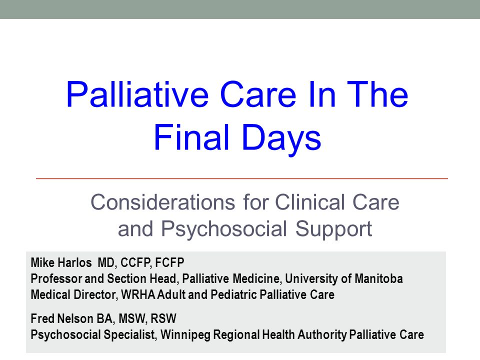 Considerations for Clinical Care and Psychosocial Support