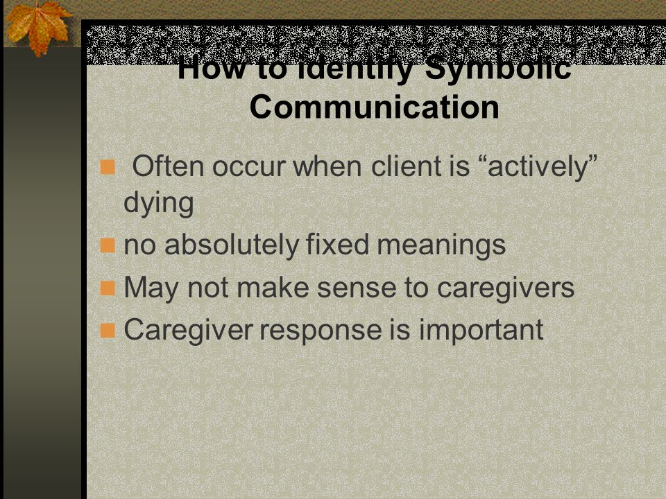How to identify Symbolic Communication