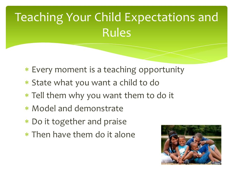 Teaching Your Child Expectations and Rules