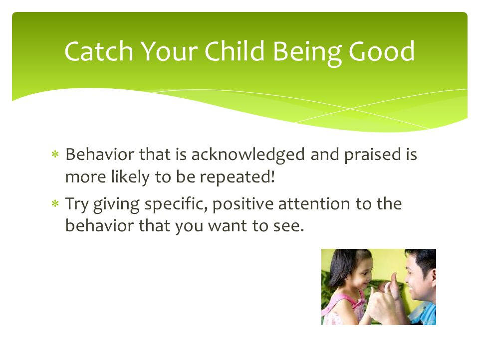 Catch Your Child Being Good