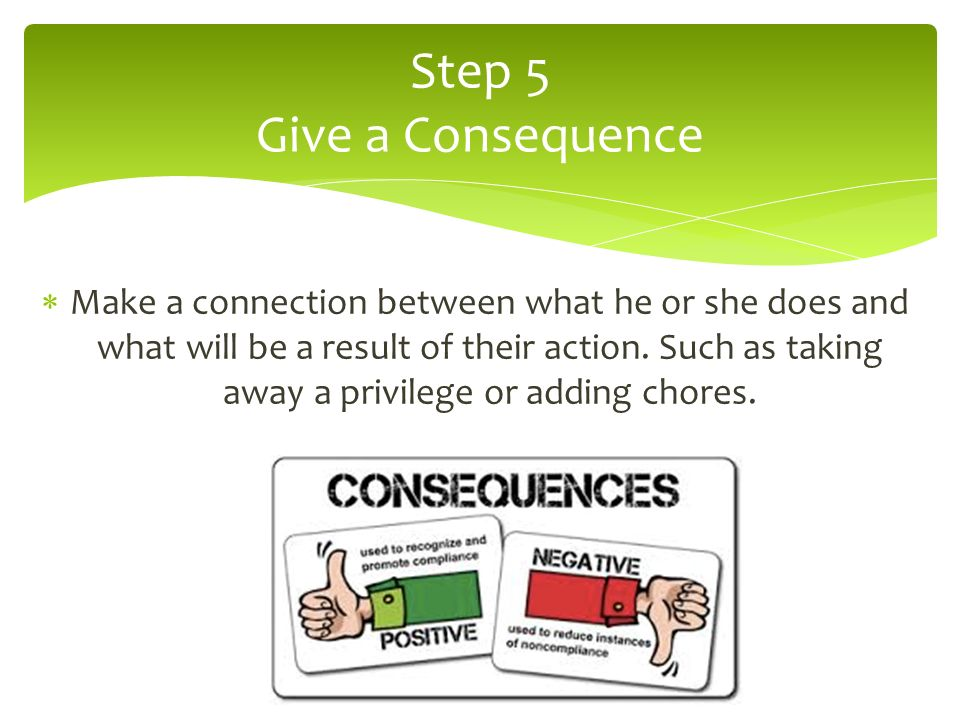 Step 5 Give a Consequence