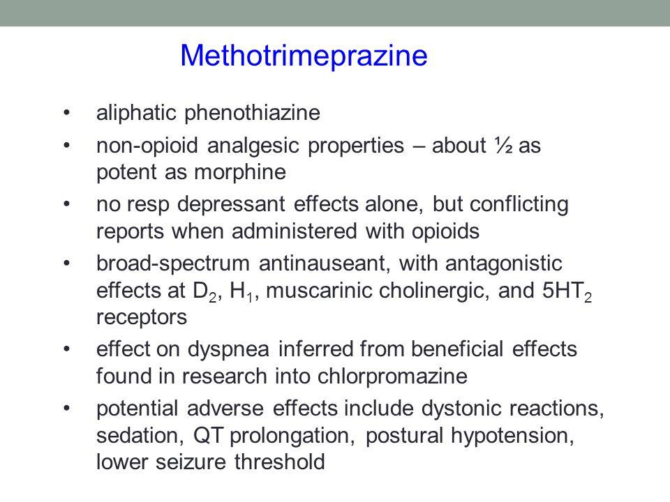 Methotrimeprazine aliphatic phenothiazine