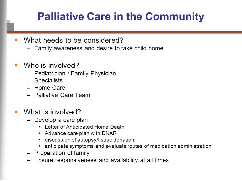 Palliative Care in the Community