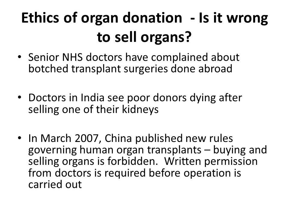 Organ donation operations improvement plan - Term paper