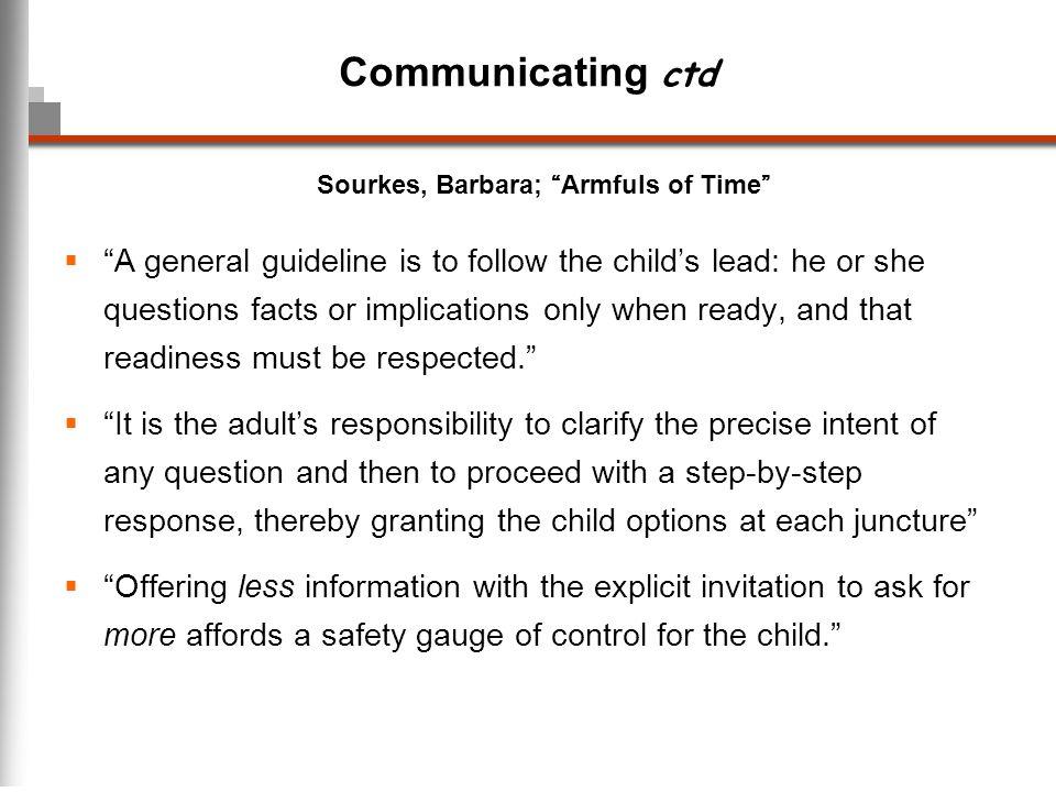 Communicating ctd Sourkes, Barbara; Armfuls of Time