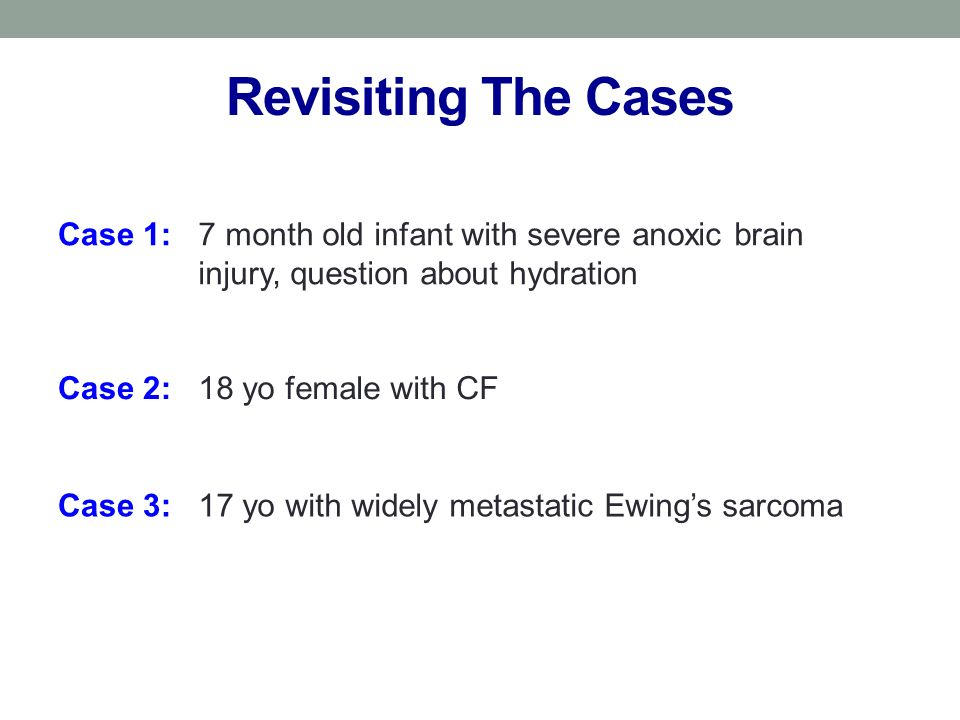 Revisiting The Cases Case 1: