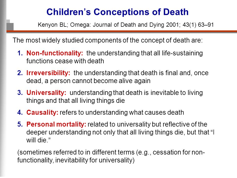 Children's Conceptions of Death