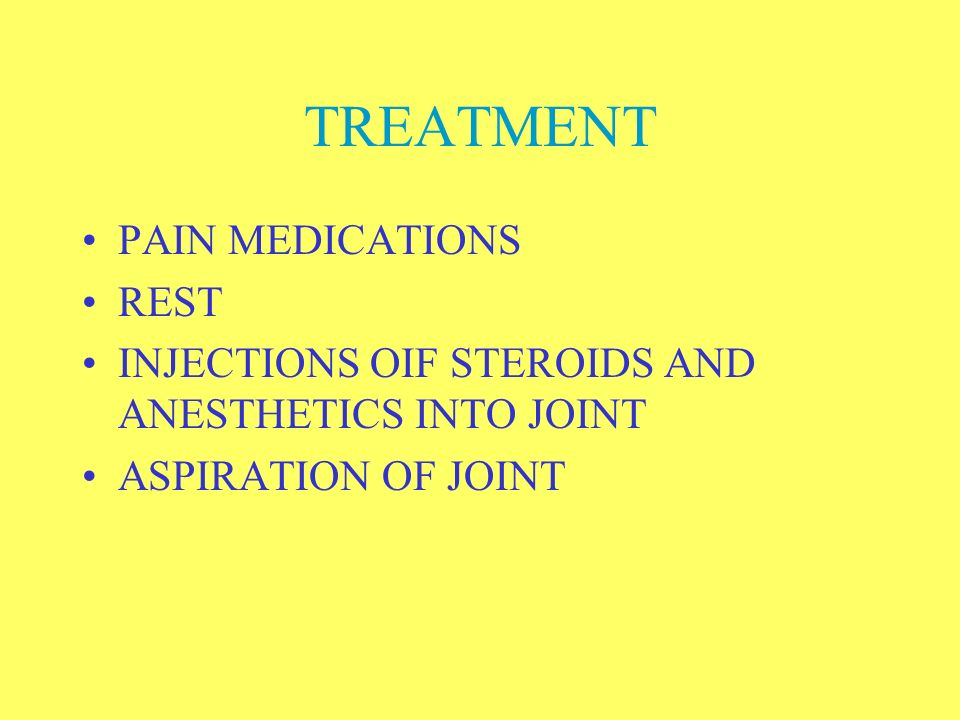 TREATMENT PAIN MEDICATIONS REST