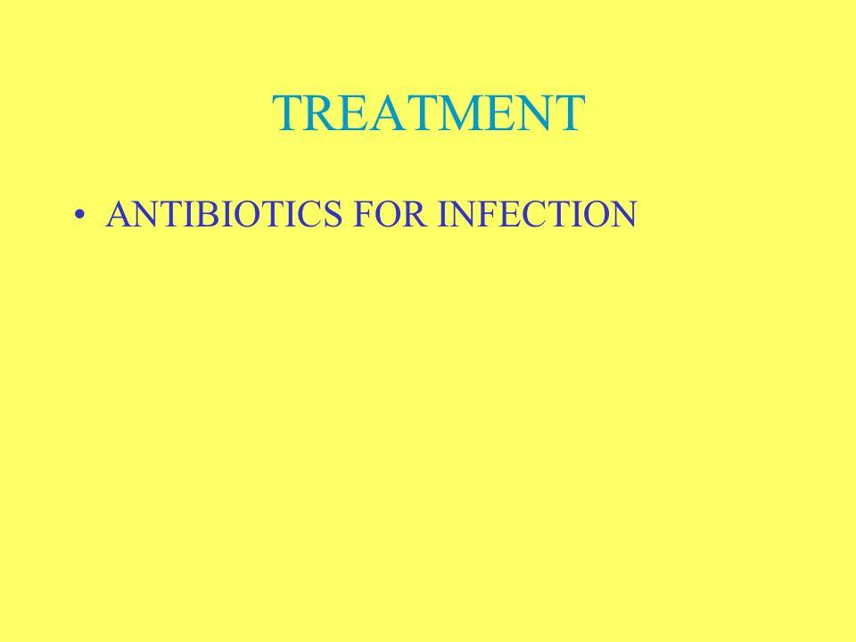 TREATMENT ANTIBIOTICS FOR INFECTION