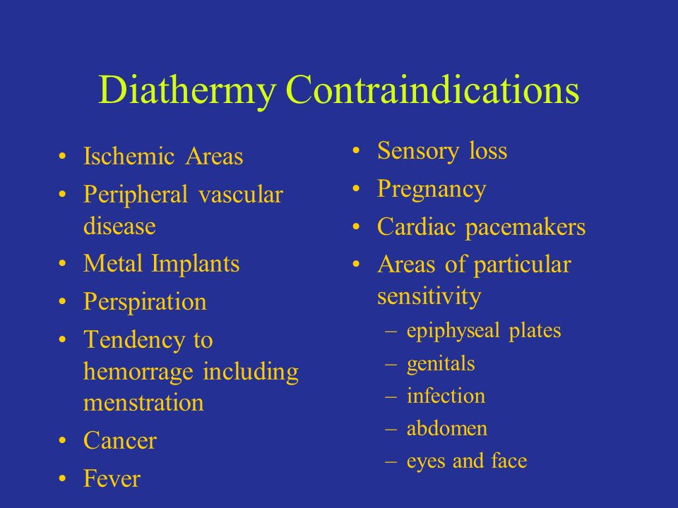 Diathermy Contraindications