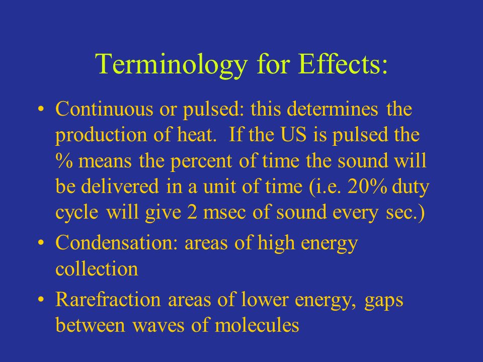 Terminology for Effects: