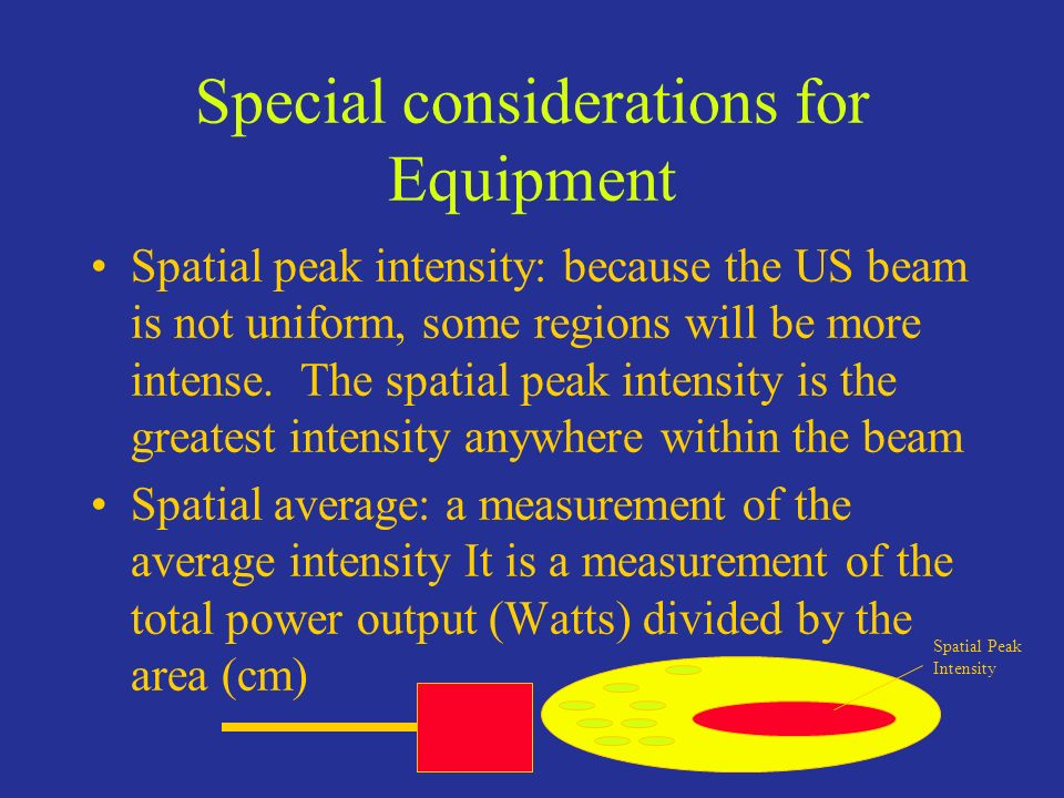 Special considerations for Equipment
