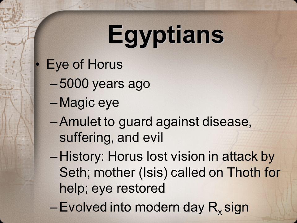 Egyptians Eye of Horus 5000 years ago Magic eye