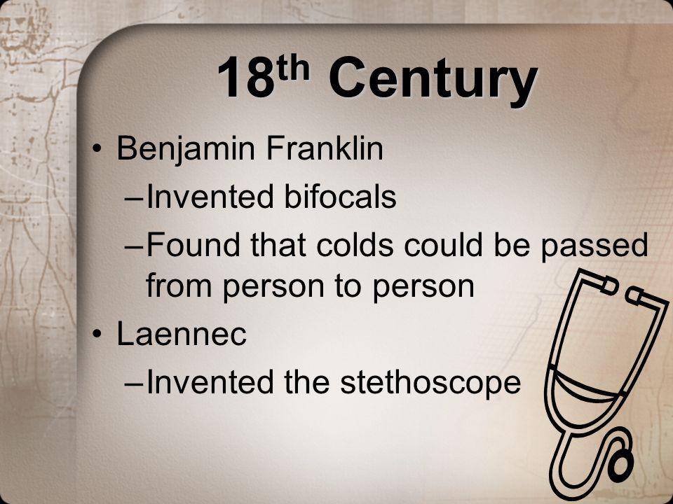 18th Century Benjamin Franklin Invented bifocals