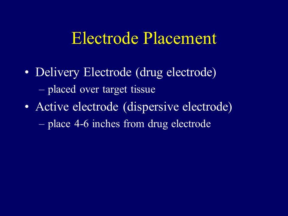 Electrode Placement Delivery Electrode (drug electrode)