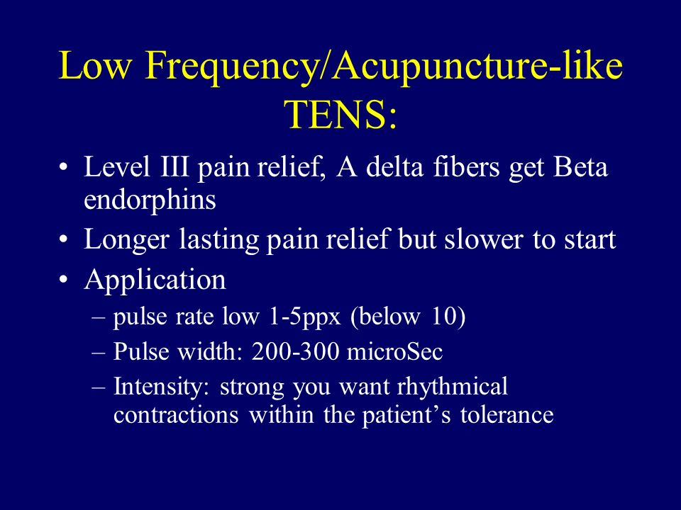 Low Frequency/Acupuncture-like TENS: