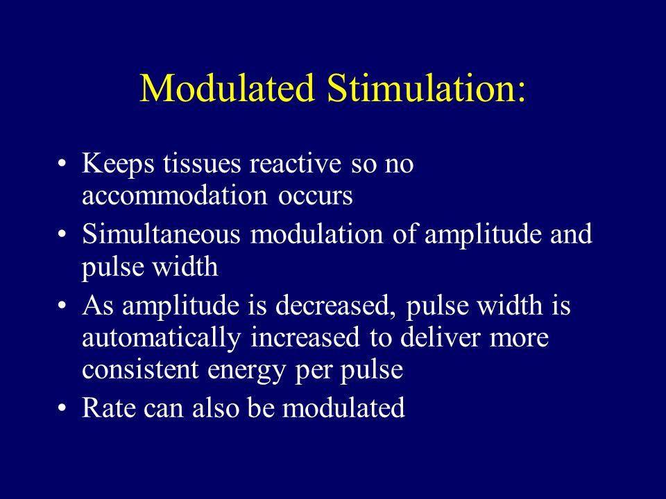 Modulated Stimulation: