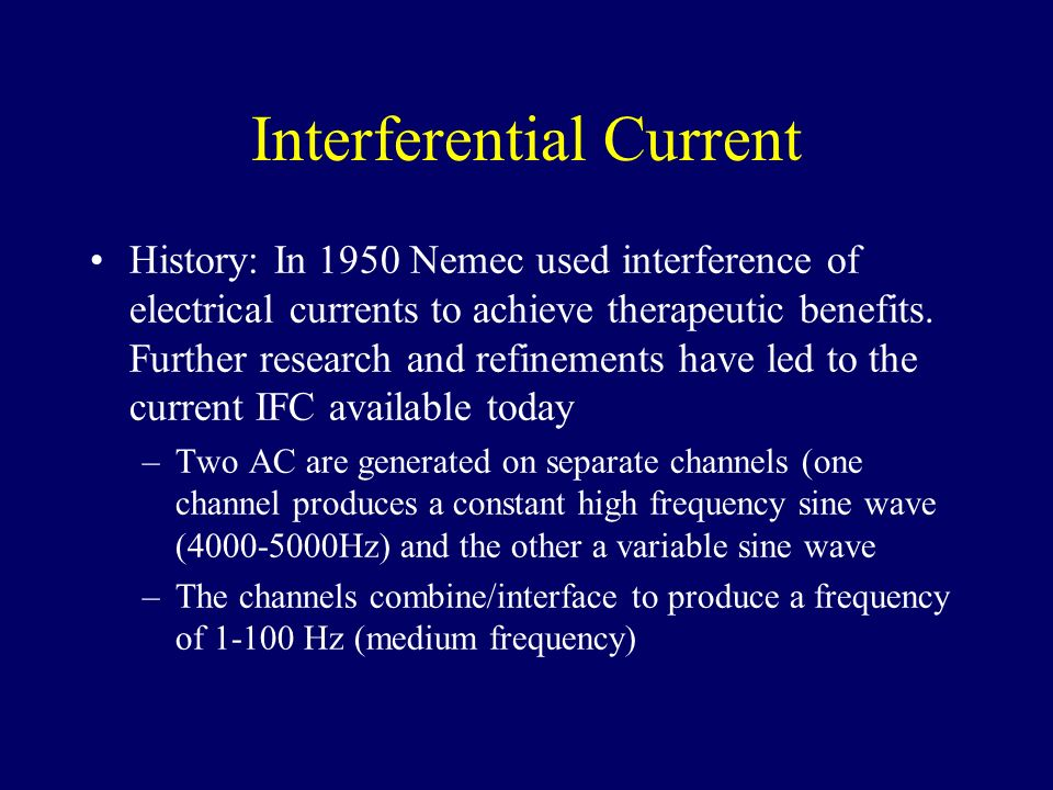 Interferential Current
